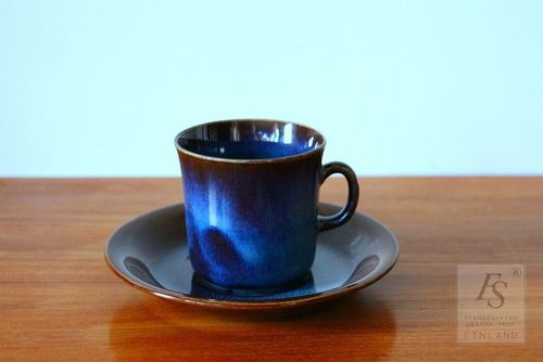 Gefle KOSMOS coffee cup and saucer