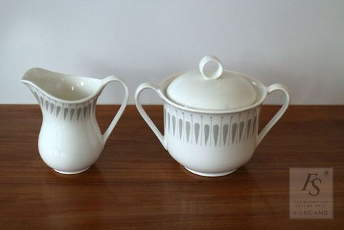Gustavsberg DINETT sugar bowl and creamer