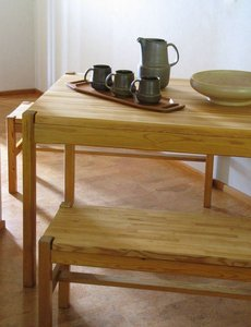 HONGISTO solid pine wood dining set, designed by Ilmari Tapiovaara for Laukaan puu Ltd.\\n\\n13.8.2013 15.48