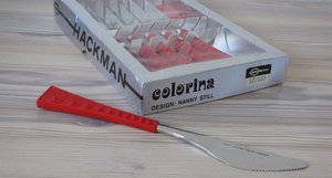 COLORINA knifes with orginal box,designed by Nanny Still for Hackman.\\n\\n11.7.2013 18.22